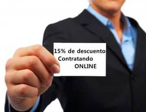 15% de descuento contratando online el reparto de propaganda